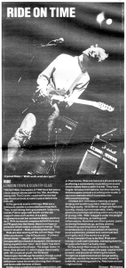 Ride Live Review from N.M.E. 1989