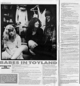Babes in Toyland interview with Everett True 1990