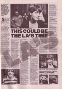 The LA\'s interview NME 20th Oct 1990