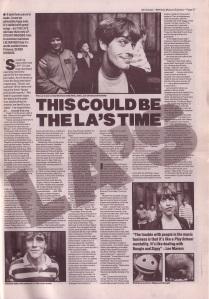 The LA\'s interview NME 20th Oct 1990