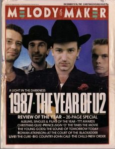 U2 cover of Melody Maker Dec 1987