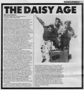 De La Soul - 3 Feet High and Rising 18th March 1989