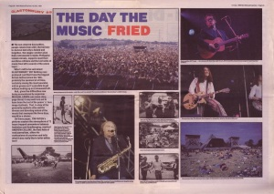 Andrew Collins reviews Glastonbury in the NME 1989
