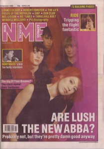 Lush - cover of the NME Oct 20th 1990