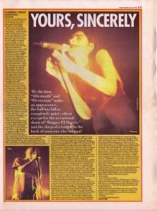 PJ Harvey Live at Barrowlands, Glasgow, March 1995