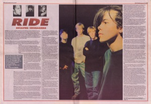 Ride interview in Melody Maker, 22nd Sepember 1990
