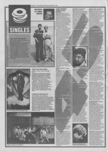 Singles reviewed in NME by James Brown 23rd March 1991