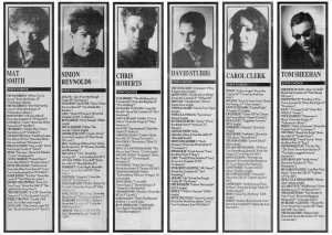 Melody Maker Staff Choices Part One 24th - 31st December 1988