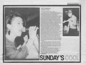 The Sunday\'s live at The Falcon 3rd Sepember 1988