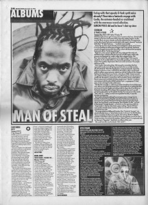 Various album reviews includings Coolio\'s It Takes A Thief by Simon Price, 12th November 1994.jpg