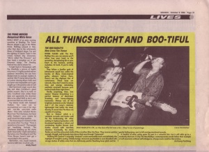 The Boo Radleys live at The Venue, 6th October 1990