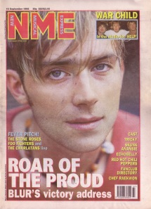 Damon Albarn on the cover of NME 16th September 1995