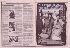 Everett True interviews Billy Bragg 20th July 1991