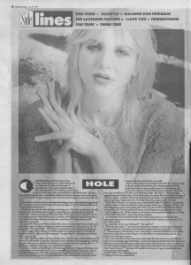 Hole in Sidelines 15th June 1991