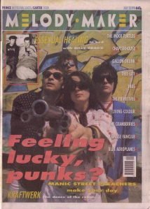 Manic Street Preachers cover, 20th July 1991