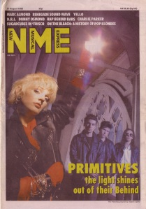 The Primitives on the cover of NME, 22nd August 1988