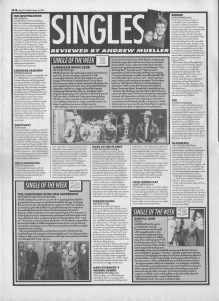 Singles reviewed by Andrew Mueller, 18th March 1995