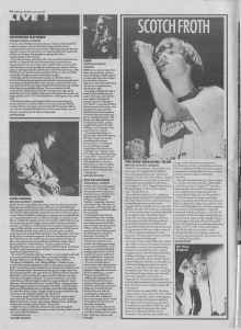 Live Reviews including The Soup Dragons/Blur at Brixton Academy, 5th January 1991