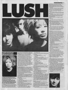 Chris Roberts interviews Lush, 18th March 1989