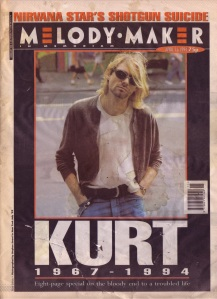 Kurt Cobain obituary cover of Melody Maker 16th April 1994