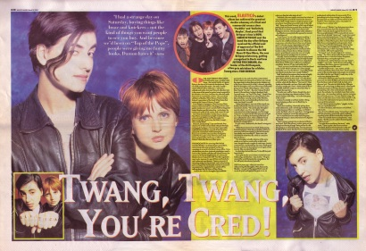 Simon Reynolds interviews Elastica 25th March 1995 - part 1