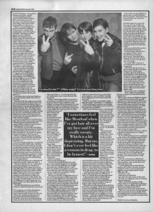 Simon Reynolds interviews Elastica, 25th March 1995 - part 2