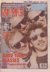 The Pogues on the cover of NME, 1st July 1989