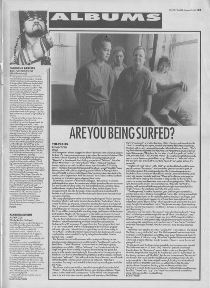 Bob Stanley reviews The Pixies Bossanova, 11th August 1990