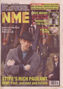 REM on the cover of NME, 23rd March 1991
