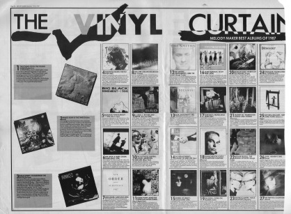 The Vinyl Curtain. Melody Makers best albums of 1987