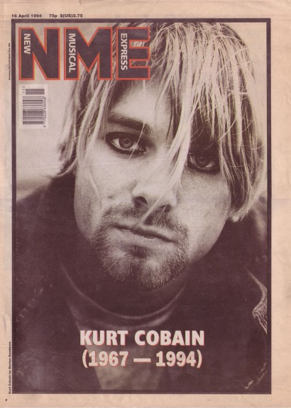 Kurt Cobain NME obituary cover, 16th April 1994
