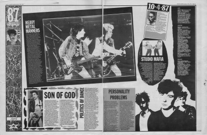 Melody Maker review of the April 1987 with staff picks by Paul Mather