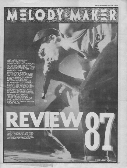 Melody Maker review of the 1987, cover page