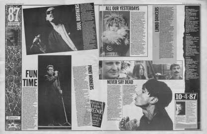 Melody Maker review of 1987 - January