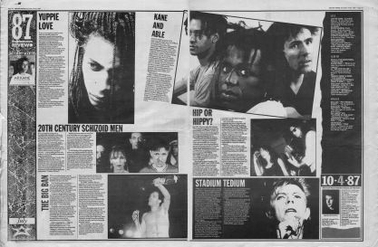 Melody Maker review of July 1987 with staff picks by Simon Reynolds