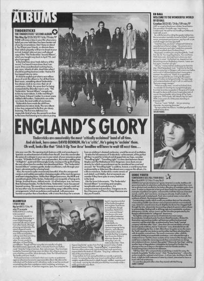David Bennun reviews The Tindersticks second album, 25th March 1995