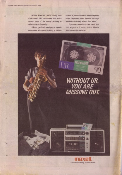Maxell Tape Advert 1988