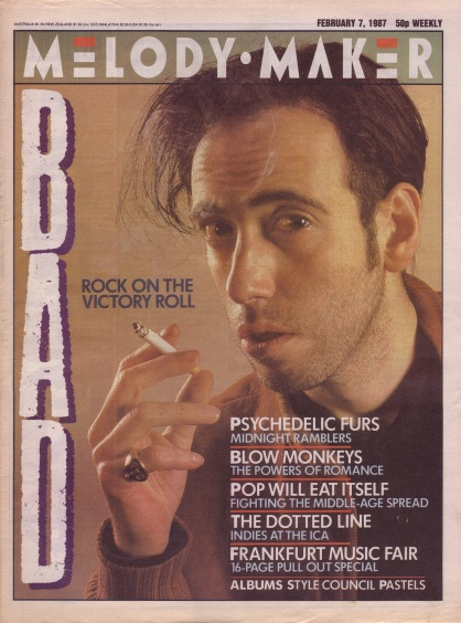 Mick Jones on the cover of Melody Maker, 7th February 1987