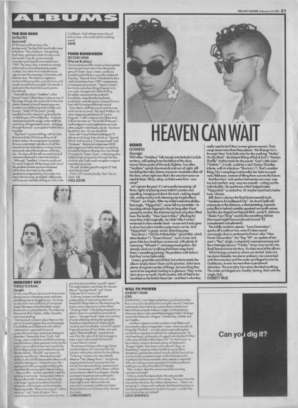 Chris Roberts reviews Mercury Rev's Yerself Is Steam, 16th February 1991
