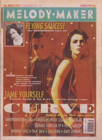 Curve on the cover of Melody Maker, 26th October 1991