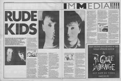 David Stubbs interviews Simon and Chris Donald of Viz Magazine, 12th December 1987