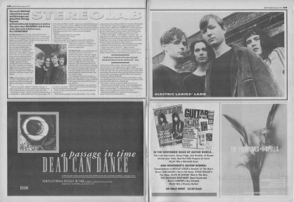 Jim Arundel interviews Stereolab, 26th October 1991