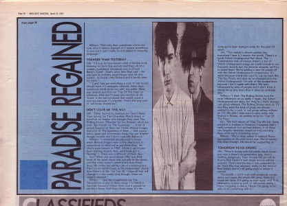 Steve Sutherland interviews The Jesus & Mary Chain part 2, 25th April 1987