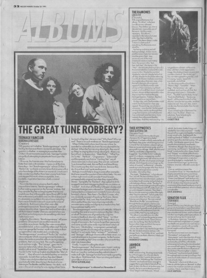 Steve Sutherland reviews Bandwagonesque by Teenage Fanclub, 26th October 1991