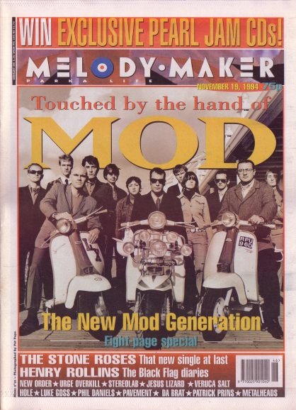 Touched by the hand of Mod - Melody Maker cover, 19th November 1994