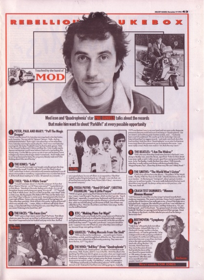 Touched by the hand of Mod - Phil Daniels Rebellious Jukebox, 19th November 1994