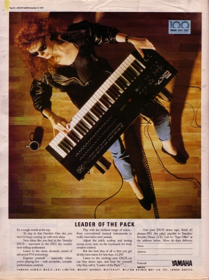 yamaha dx7 advertisment, 12th December 1987
