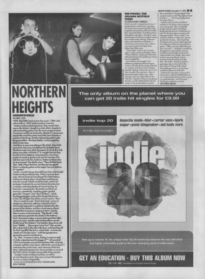 Ben Turner reviews Underworld live at The Orbit, Leeds, 11th December 1993