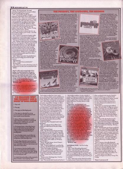David Bennun interviews The Prodigy - part 2, 1st April 1995