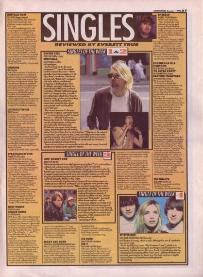 Everett True reviews the singles of the week, 11th December 1993
